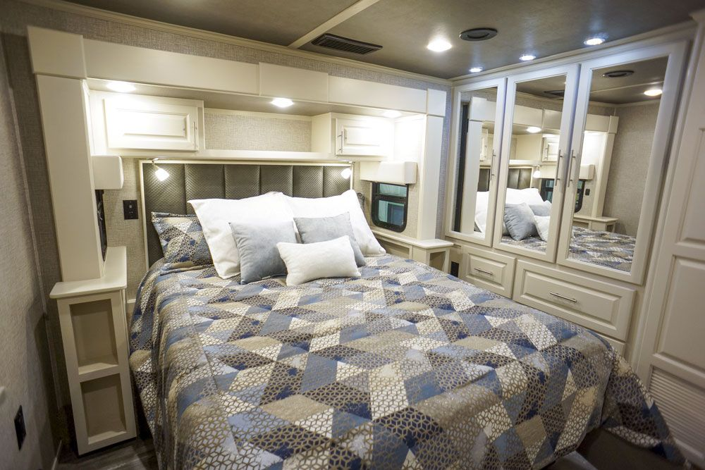 Luxury toy hauler bedroom