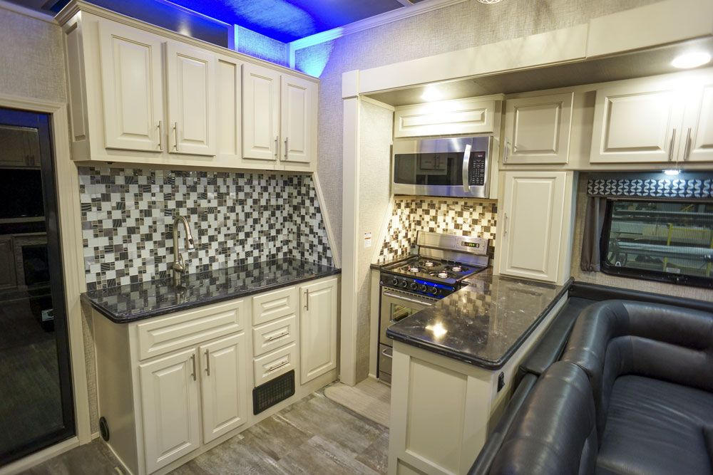 Luxury toy hauler kitchen