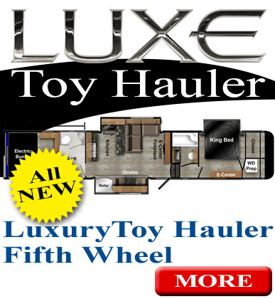 luxury fifth wheel toy hauler