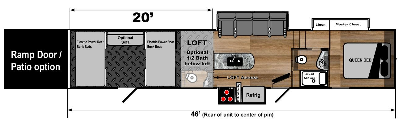 toy hauler 5th wheel floorplan 4620W
