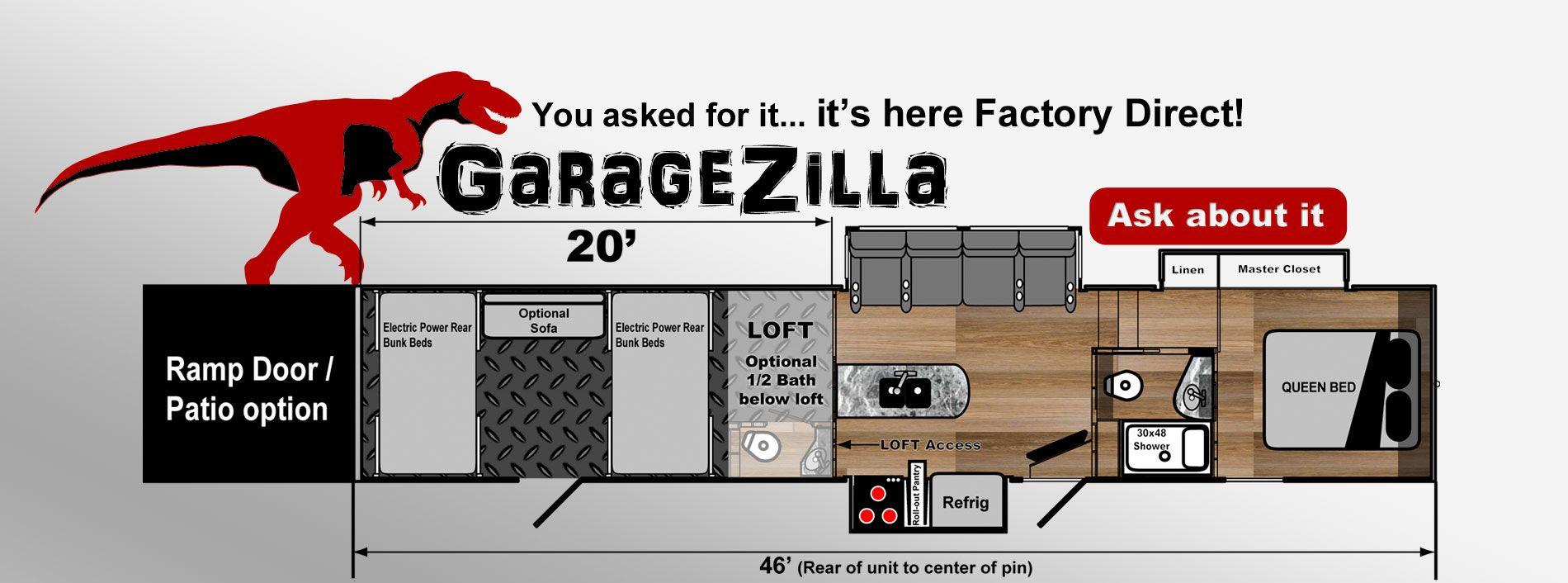 toy hauler 20 foot garage