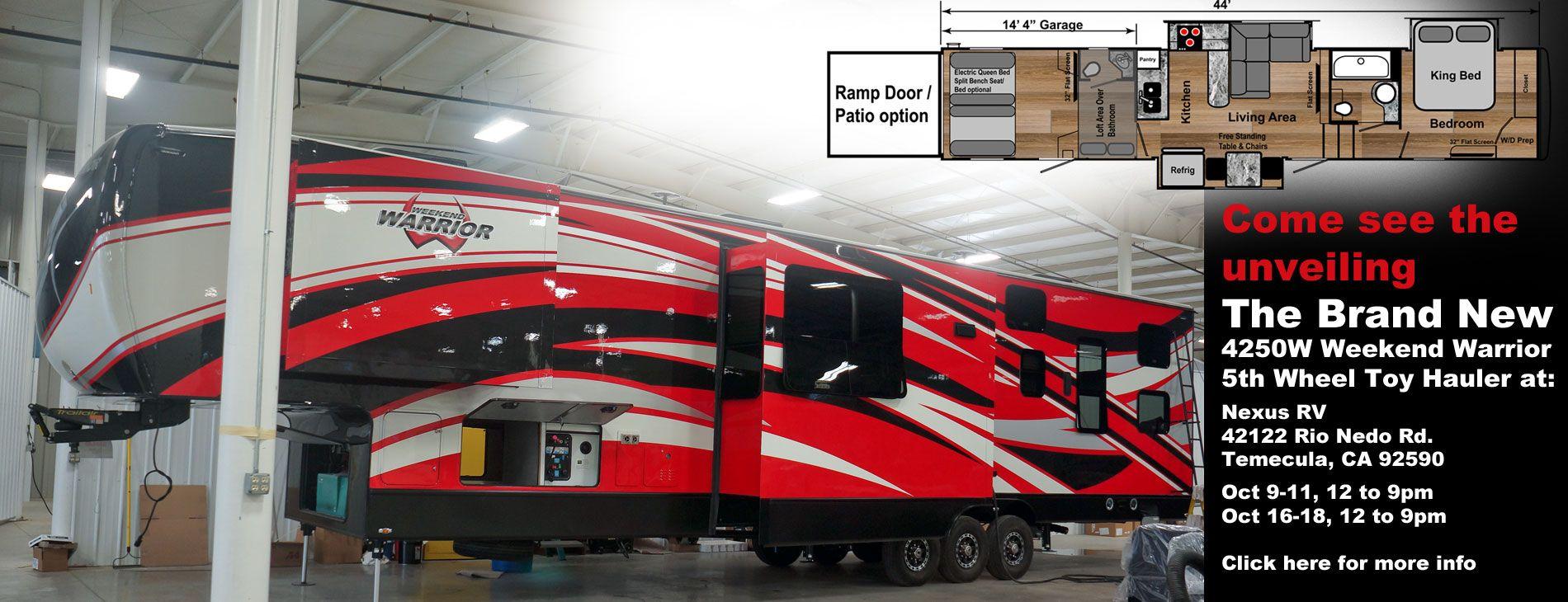 new 4250W weekend warrior Pomona RV show california