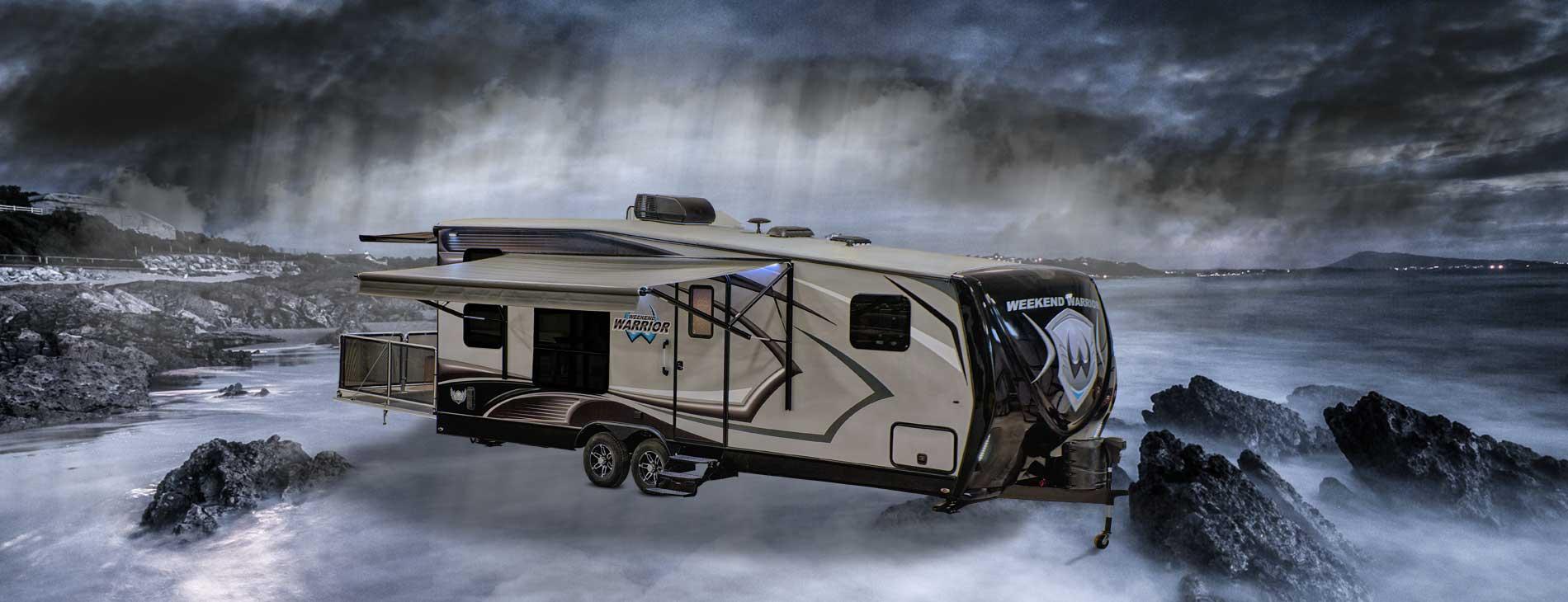 weekend warrior toyhauler trailer camper 20 ft - 28 ft