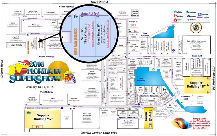 Florida State Fairgrounds Map.Florida Rv Supershow Show Dates Show Tickets Tampa Rv Supershow